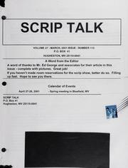 Scrip Talk: March 2001 Issue