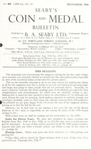 Seaby's Coin and Medal Bulletin: December 1956