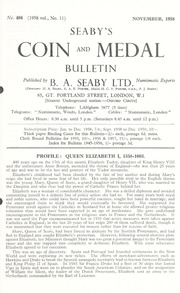 Seaby's Coin and Medal Bulletin: November 1958