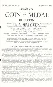 Seaby's Coin and Medal Bulletin: November 1958