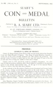 Seaby's Coin and Medal Bulletin: September 1962