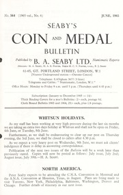 Seaby's Coin and Medal Bulletin: June 1965