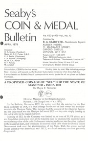 Seaby's Coin and Medal Bulletin: April 1975