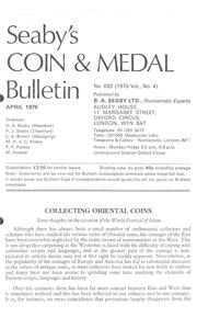 Seaby's Coin and Medal Bulletin: April 1976