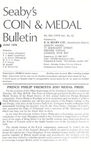 Seaby's Coin and Medal Bulletin: June 1976