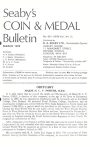 Seaby's Coin and Medal Bulletin: March 1976