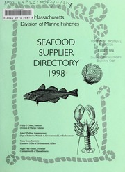 Seafood supplier directory : Massachusetts  Division of Marine