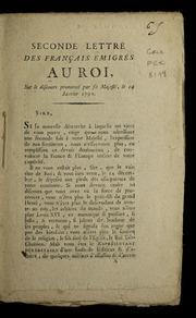 Seconde lettre des Français emigrés au roi : sur le discours prononcé par Sa Majesté, le 24 janvier 1792.