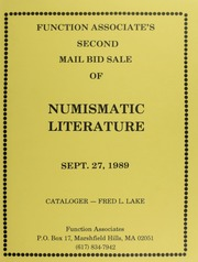 Second Mail Bid Sale of Numismatic Literature