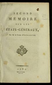 Second mémoire sur les États-généraux