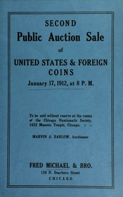 Second public auction sale of United States & foreign coins. [01/17/1912]