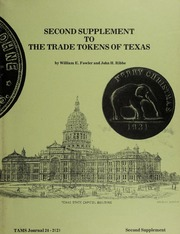 Second Supplement to the Trade Tokens of Texas