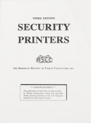 Security Printers, Third Edition