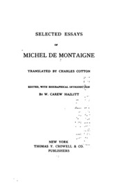 montaigne essays text