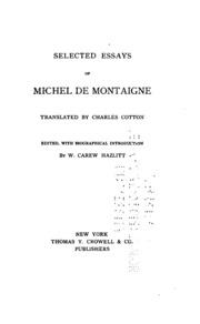montaigne essays online