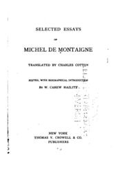 essays selection montaigne sparknotes