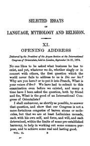 selected essays on language mythology and religion m atilde frac ller f vol 2 selected essays on language mythology and religion