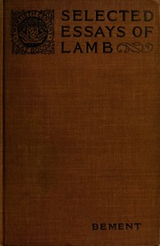 essays by charles lamb