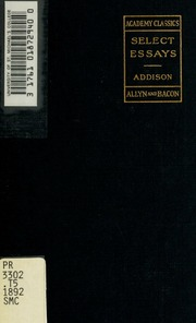 select essays of addison together macaulay s essay on  select essays of addison together macaulay s essay on addison s life and writings