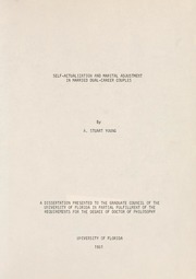 marital dissertation Dedication i dedicate this dissertation to my wife, mary ann, from who i had learnt more about the meaning and joy of marital communication than all the books on the.