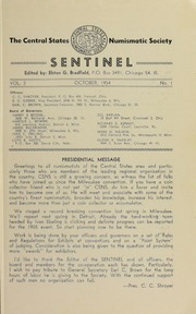 Sentinel [The Centinel], vol. 2, no. 1