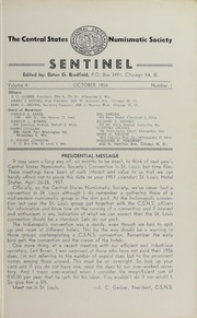Sentinel [The Centinel], vol. 4, no. 1