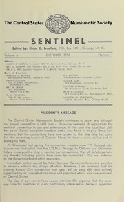 Sentinel [The Centinel], vol. 6, no. 1