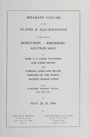 Separate Volume of the Plates & Illustrations of the Annual Schulman - Kreisberg Auction Sale