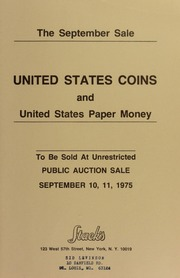 The September Sale: United States Coins and United States Paper Money