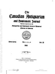 The Canadian antiquarian and numismatic journal
