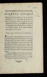 Serment civique sur la Constitution civile du clergé