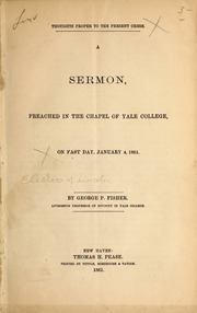 National Faults: A Sermon, Delivered in the Chapel of Yale ...