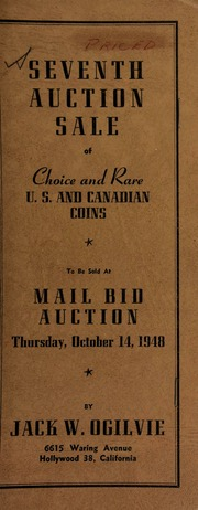 Seventh auction sale of choice and rare U.S. and Canadian coins ... [10/14/1948]