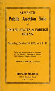 Seventh public auction sale of United States & foreign coins. [10/18/1913]