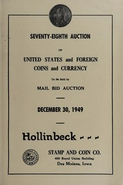 Seventy-Eighth Auction of United States and Foreign Coins and Currency