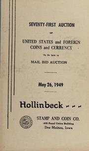Seventy-First Auction of United States and Foreign Coins and Currency