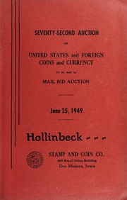 Seventy-Second Auction of United States and Foreign Coins and Currency