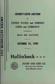 Seventy-Sixth Auction of United States and Foreign Coins and Currency