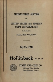 Seventy-Third Auction of United States and Foreign Coins and Currency