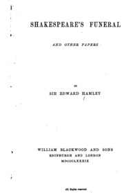 shakespeare s patrons other essays brown henry of newington  shakespeare s funeral and other papers