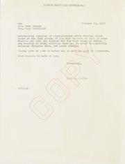Mary Sheffield Correspondence, 1946 to 1957