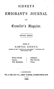sidney-s emigrant-s journal and craveller-s magazine