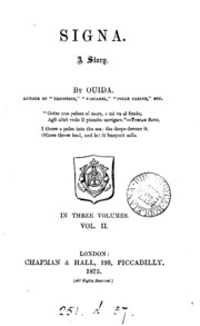 Signa, by Ouida