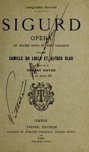 Sigurd : opera quatre actes et neuf tableaux