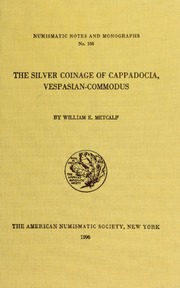 The silver coinage of Cappadocia, Vespasian-Commodus