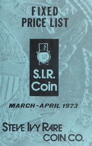 S.I.R. Coin Fixed Price List: March-April 1973