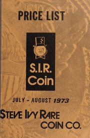 S.I.R. Coin Fixed Price List: July-August 1973