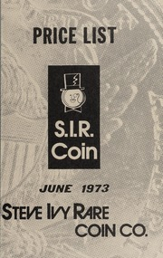 S.I.R. Coin Fixed Price List: June 1973