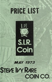 S.I.R. Coin Fixed Price List: May 1973