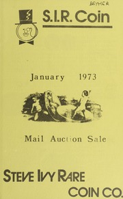 S.I.R. Coin Mail Auction Sale: January 1973